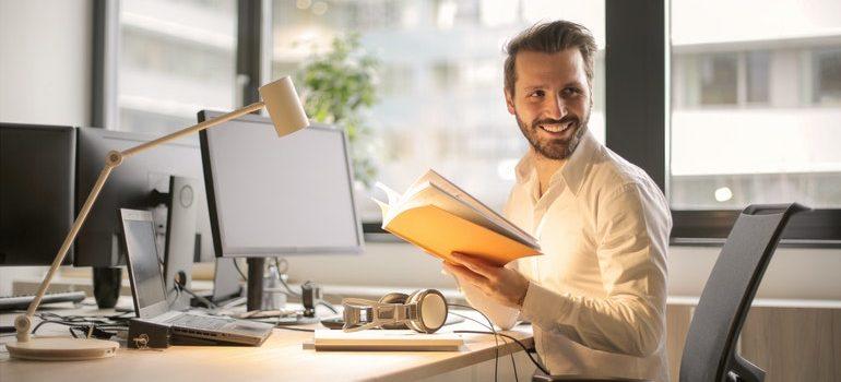 School principal in his office.